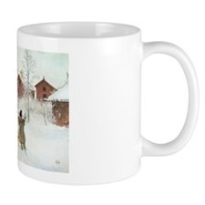 Winter Farm House Mug