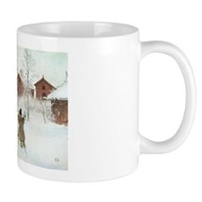 Winter Farm House Mug