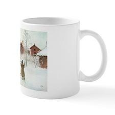 Winter Farm House Small Mug