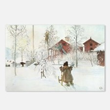 Winter Farm House Postcards (Package of 8)