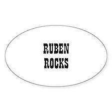 RUBEN ROCKS Oval Decal