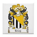 Krag Coat of Arms Tile Coaster