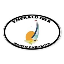 Emerald Isle NC Oval Decal