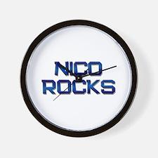 nico rocks Wall Clock