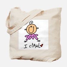 Girl I Crawl Tote Bag