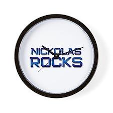 nickolas rocks Wall Clock
