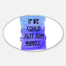 JOIN HANDS Oval Decal