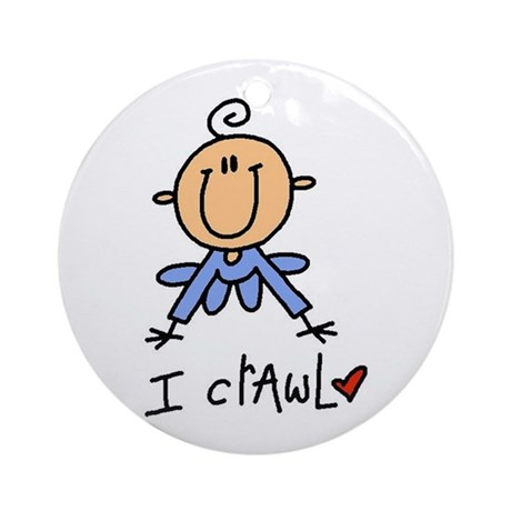 Boy I Crawl Ornament (Round)