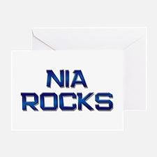 nia rocks Greeting Card