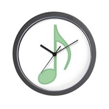 Green Eighth Note Wall Clock