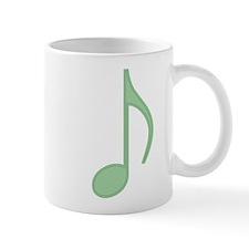 Green Eighth Note Mug