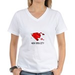 WALL STREET NYC Women's V-Neck T-Shirt