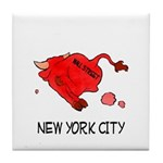 WALL STREET NYC Tile Coaster