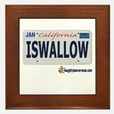 ISWALLOW License Plate Framed Tile