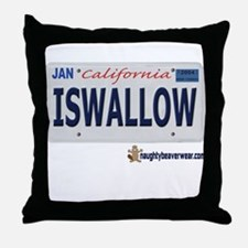 ISWALLOW License Plate Throw Pillow