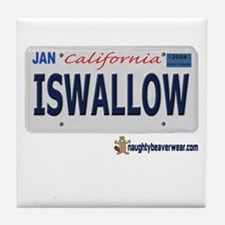 ISWALLOW License Plate Tile Coaster