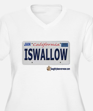 ISWALLOW License Plate T-Shirt