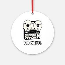 OLD SCHOOL (TAPE DECK) Ornament (Round)