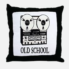 OLD SCHOOL (TAPE DECK) Throw Pillow