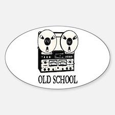 OLD SCHOOL (TAPE DECK) Sticker (Oval)