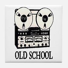OLD SCHOOL (TAPE DECK) Tile Coaster