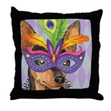 Party Min Pin Throw Pillow