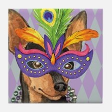 Party Min Pin Tile Coaster