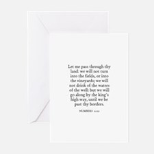 NUMBERS  21:22 Greeting Cards (Pk of 10)