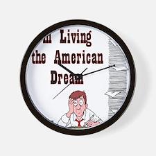 Living the American Dream - N Wall Clock