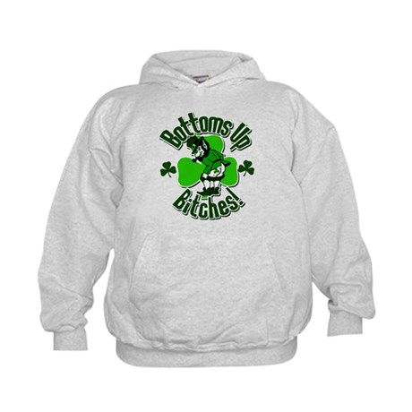 Bottoms Up Bitches! Kids Hoodie