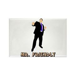 Mr. Friendly Rectangle Magnet (10 pack)