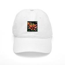Purple orange day lily flower Baseball Cap