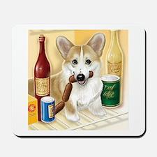 """Food Hound"" - Corgi Mousepad"