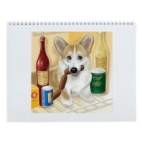 """""""Food Hound"""" - Corgi Wall Calendar"""
