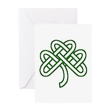 Celtic Knot Shamrock Greeting Card