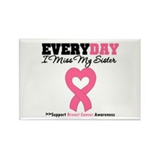 Breast Cancer Miss Sister Rectangle Magnet