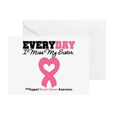 Breast Cancer Miss Sister Greeting Card