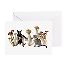 Mushroom Cats Greeting Cards (Pk of 10)