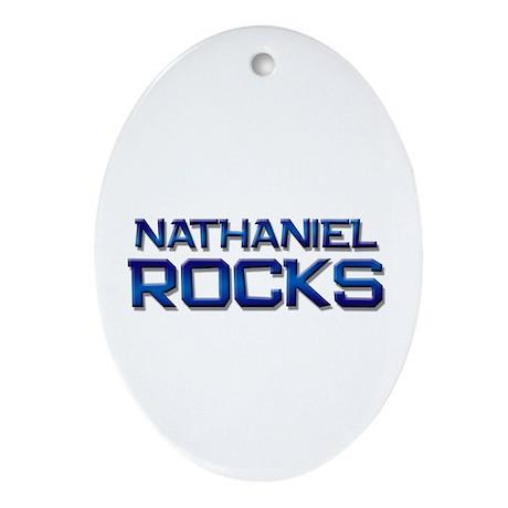 nathaniel rocks Oval Ornament