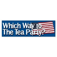 Which Way to The Tea Party? Bumper Sticker (50 pk)