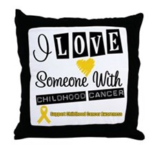 ChildhoodCancer Support Throw Pillow