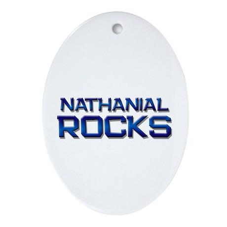nathanial rocks Oval Ornament
