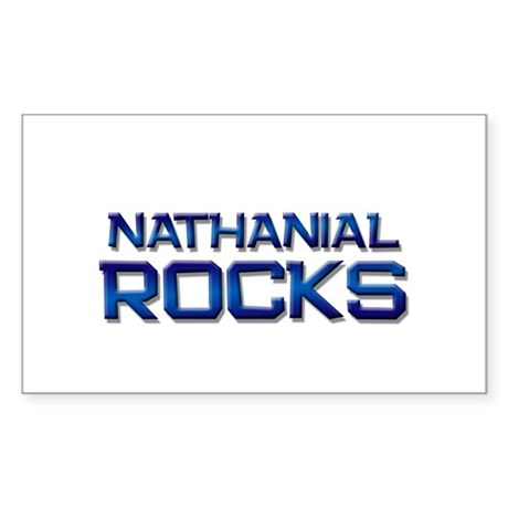 nathanial rocks Rectangle Sticker