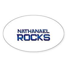 nathanael rocks Oval Decal