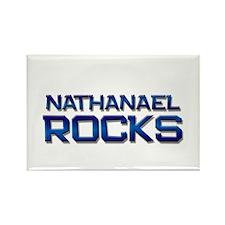 nathanael rocks Rectangle Magnet