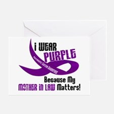 I Wear Purple (Mother-In-Law) 33 PC Greeting Card