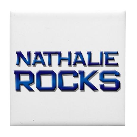 nathalie rocks Tile Coaster