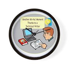 Software Manuals Wall Clock