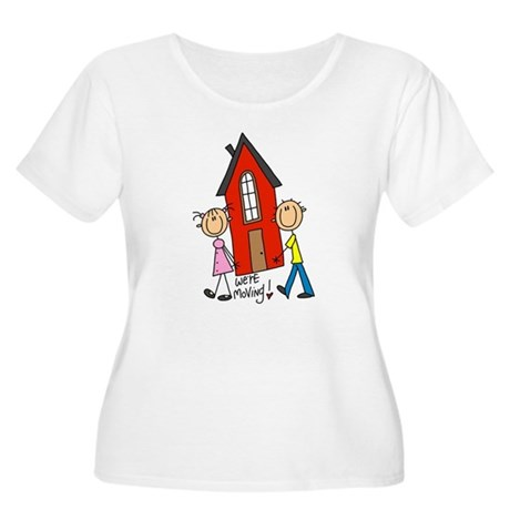 House We're Moving Women's Plus Size Scoop Neck T-