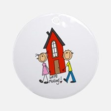 House We're Moving Ornament (Round)